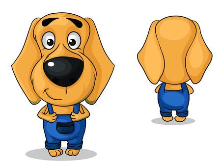 Illustratie kleurrijke personages een voor- en achterkant