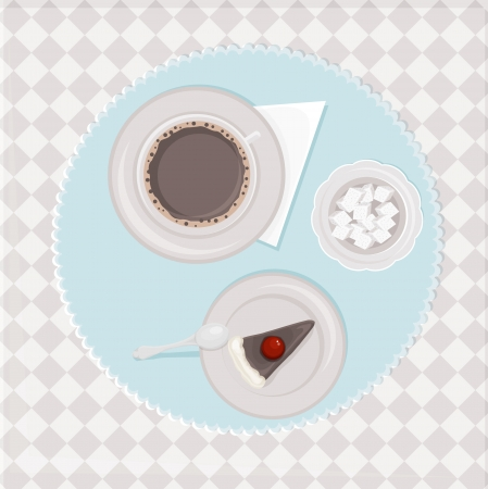 table with coffee and cake