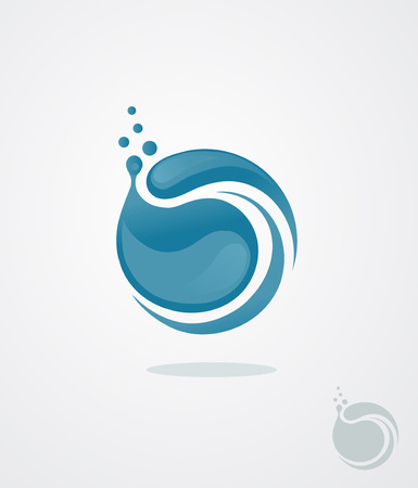 color abstract icon similar to the drop