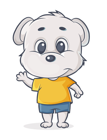 vector character puppy withT-shirt and shorts Illustration
