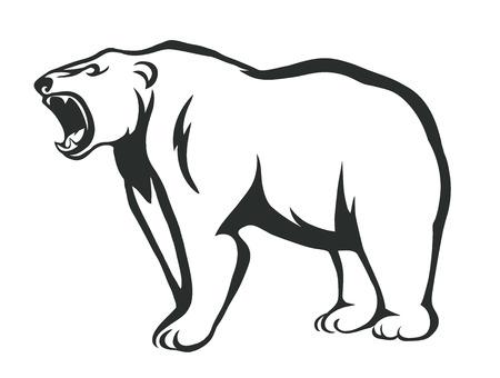 vecteur silhouette d'un ours en colère