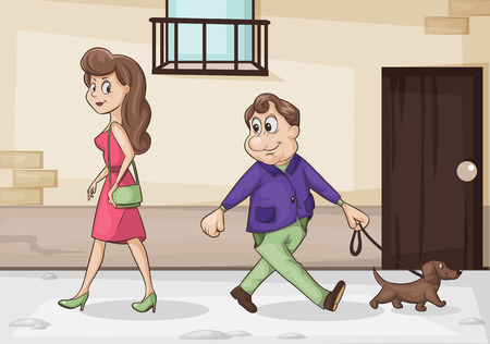 liked: cartoon illustration of men and women liked to each other