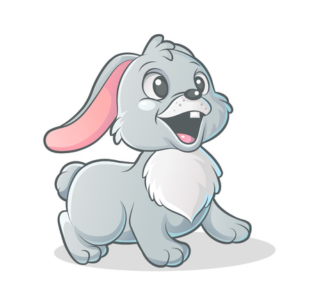 Vector cartoon Bunny on white background Illustration