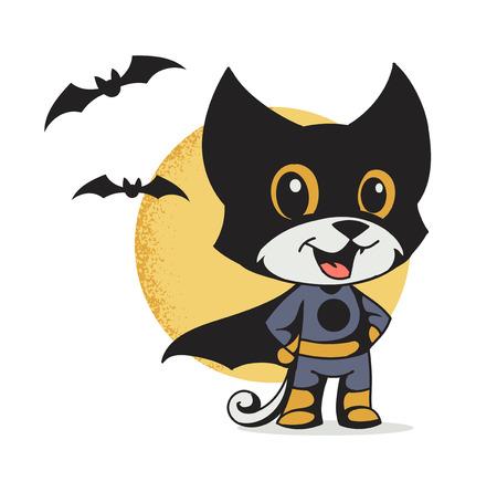 illustration of a cat superhero Ilustrace