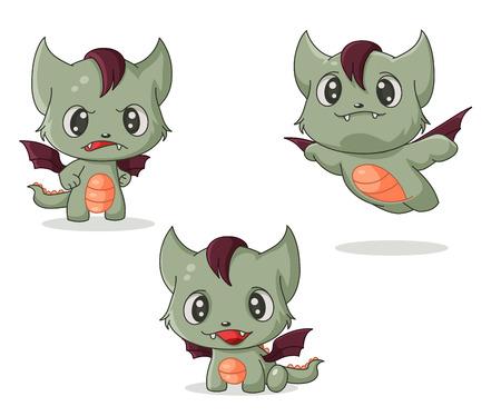 illustration cat dragon. Ilustrace