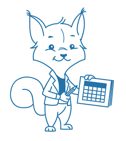 illustration clever squirrel Ilustrace