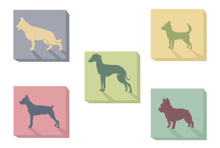 illustration icon of dogs Illustration