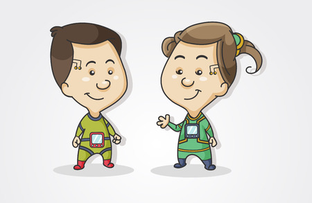 illustration kiber children.