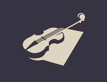 groupe: Violin silhouette.