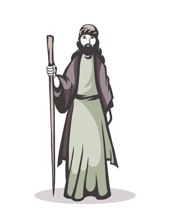 pilgrim: illustration of a pilgrim on a white background