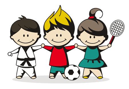 illustration of sport children
