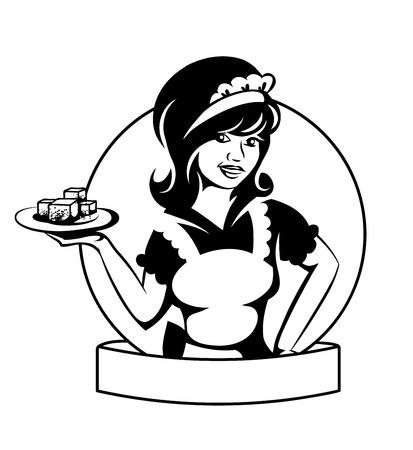 Kelnerka z danie.