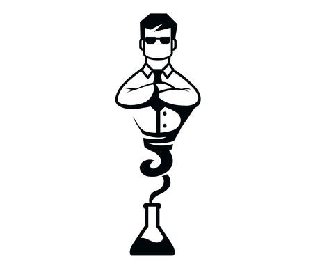 jinn: Hombre del tubo, ilustraci�n vectorial