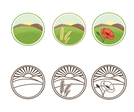 Set of nature icons , vector illustration