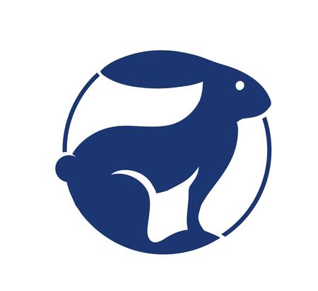 Cute rabbit icon, vector illustration Illustration