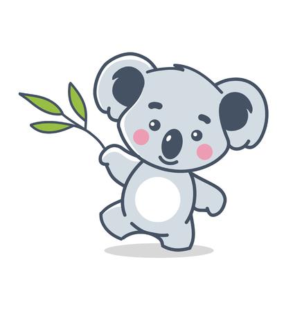 funny koala isolated on white
