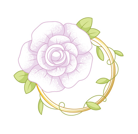 decorative floral element, vector illustration Illustration