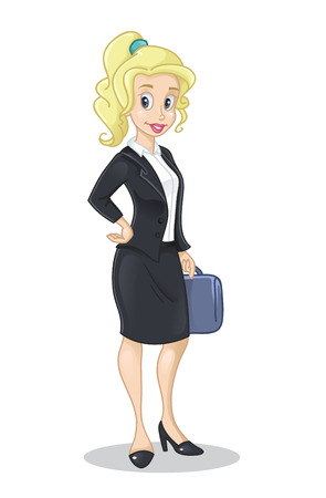Vector illustration of business lady