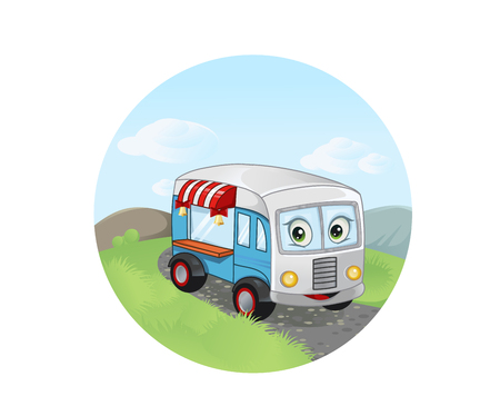 ready to eat: Vector illustration of the fast food trailer