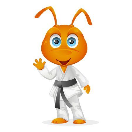 Cartoon character of karate ant