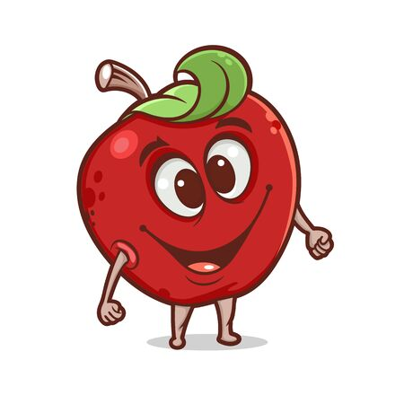 Cartoon funny apple character