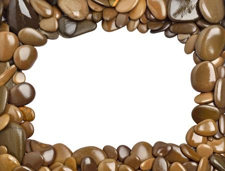 Pebbles frame Standard-Bild