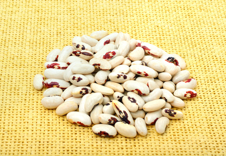 legume: Legume beans on the yellow sacking background