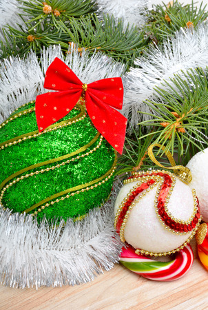 pinetree: Christmas decoration, christmas baubles and pinetree