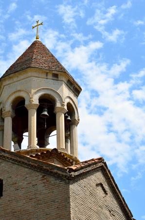 Belfry of Church Zminda Sameba. Buildings in Old Tbilisi, capital of Georgia. Zdjęcie Seryjne
