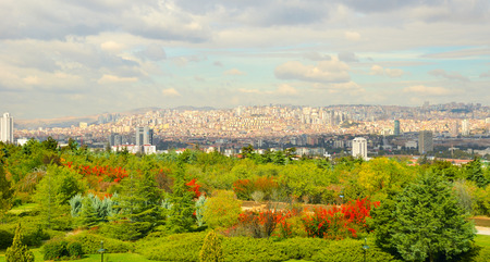 Ankara, Capital city of Turkey in a beautiful autumn day.