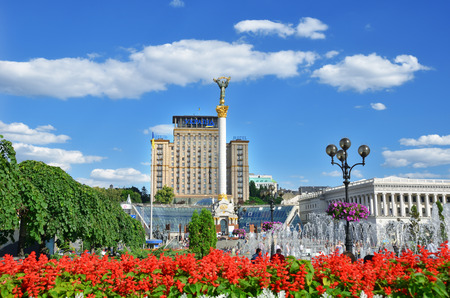 Kiev, Ukraine - August 30, 2018: Khreschatyk Street in the city center. Standard-Bild - 121727293