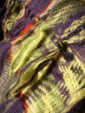 Detail of texture of wool fabric in various colors Stock Photo