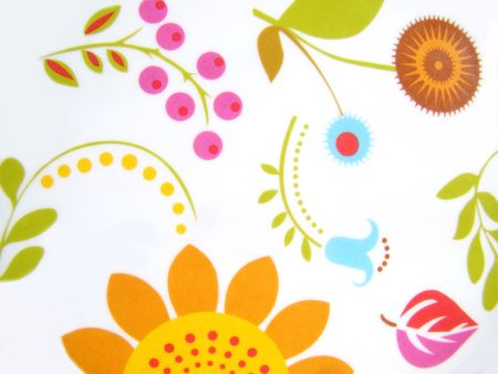 floral print smooth plastic surface