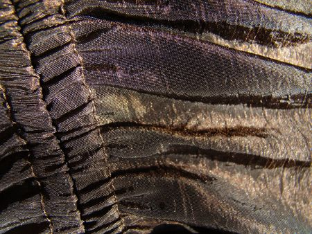 Detail of material collected bronze color Stock Photo