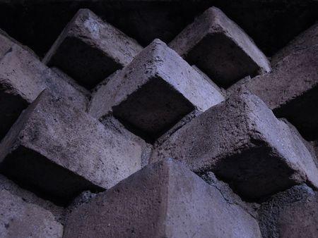 edificación: ver la pared de ladrillo acoplados en construcci�n
