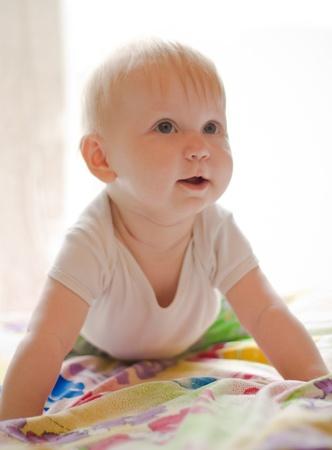 Portret of little smiling girl Stock Photo - 9362095