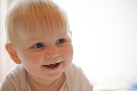 Portret of little smiling girl photo
