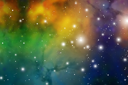 Astrology Mystic Background. Outer Space. Vector Digital Colorful Illustration of Universe. Vector Galaxy Background.