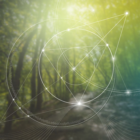 신성한 기하학. 수학, 자연 및 영성. 자연의 공식. 우주의 시작과 끝은 없으며 삶과 행복의 시작과 끝이 없습니다. 일러스트