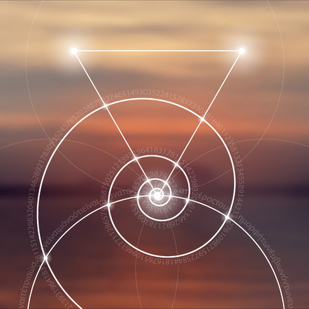 fibonacci number: Sacred geometry. Mathematics, nature, and spirituality in nature. The formula of nature. There is no beginning and no end of the Universe, and no beginning and no end of the Life and the Bliss.