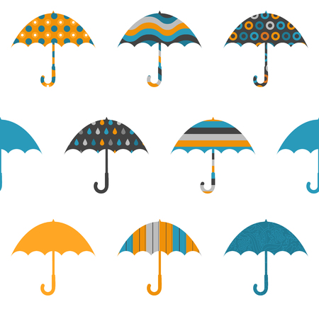Pretty Umbrellas Cute Colorful Childish Seamless Pattern Illustration
