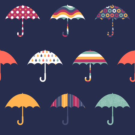 Jolies Parapluies mignon Colorful Pattern Seamless Childish