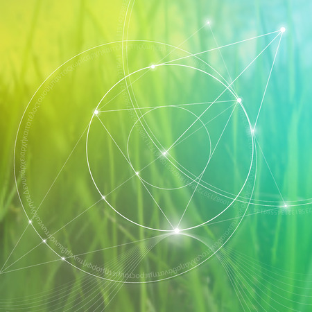 Sacred geometry. Mathematics, nature, and spirituality in nature. The formula of nature. There is no beginning and no end of the Universe, and no beginning and no end of the Life and the Bliss.