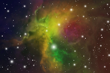 Astrology Mystic Galaxy Background. Outer Space. Digital Colorful Illustration of Universe.
