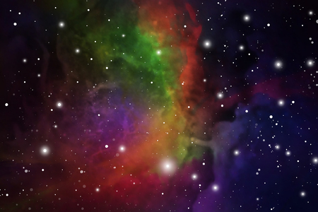 Astrology Mystic Outer Space Background. Vector Digital Illustration of Universe.
