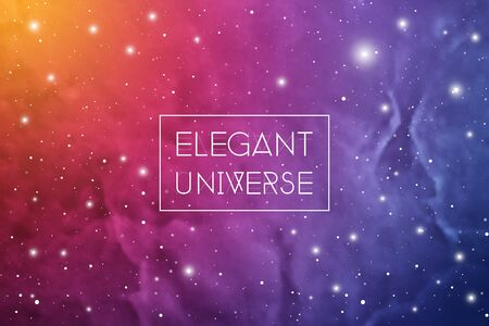 Elegant universe scientific colorful outer space wallpaper with copy space.