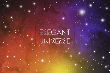 Elegant universe scientific colorful outer space wallpaper with copy space. 向量圖像