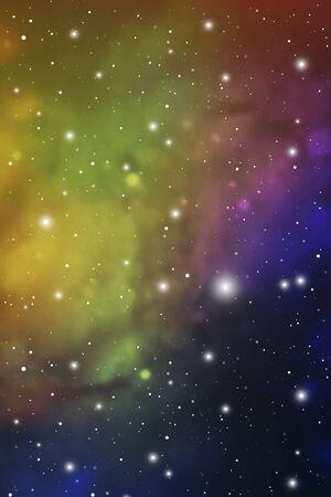 Astrology Mystic Galaxy Background. Colorful Outer Space. Vector Digital Colorful Illustration of Universe. Ilustración de vector
