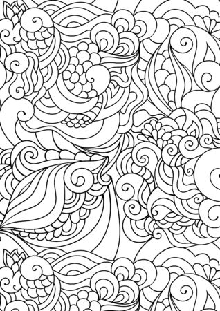 Zen doodle coloring page. Indian paisley style illustration. inspired artwork. Henna mehndi ornaments.