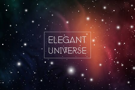 Elegant colorful universe scientific outer space wallpaper. Astrology Mystic Galaxy Background.